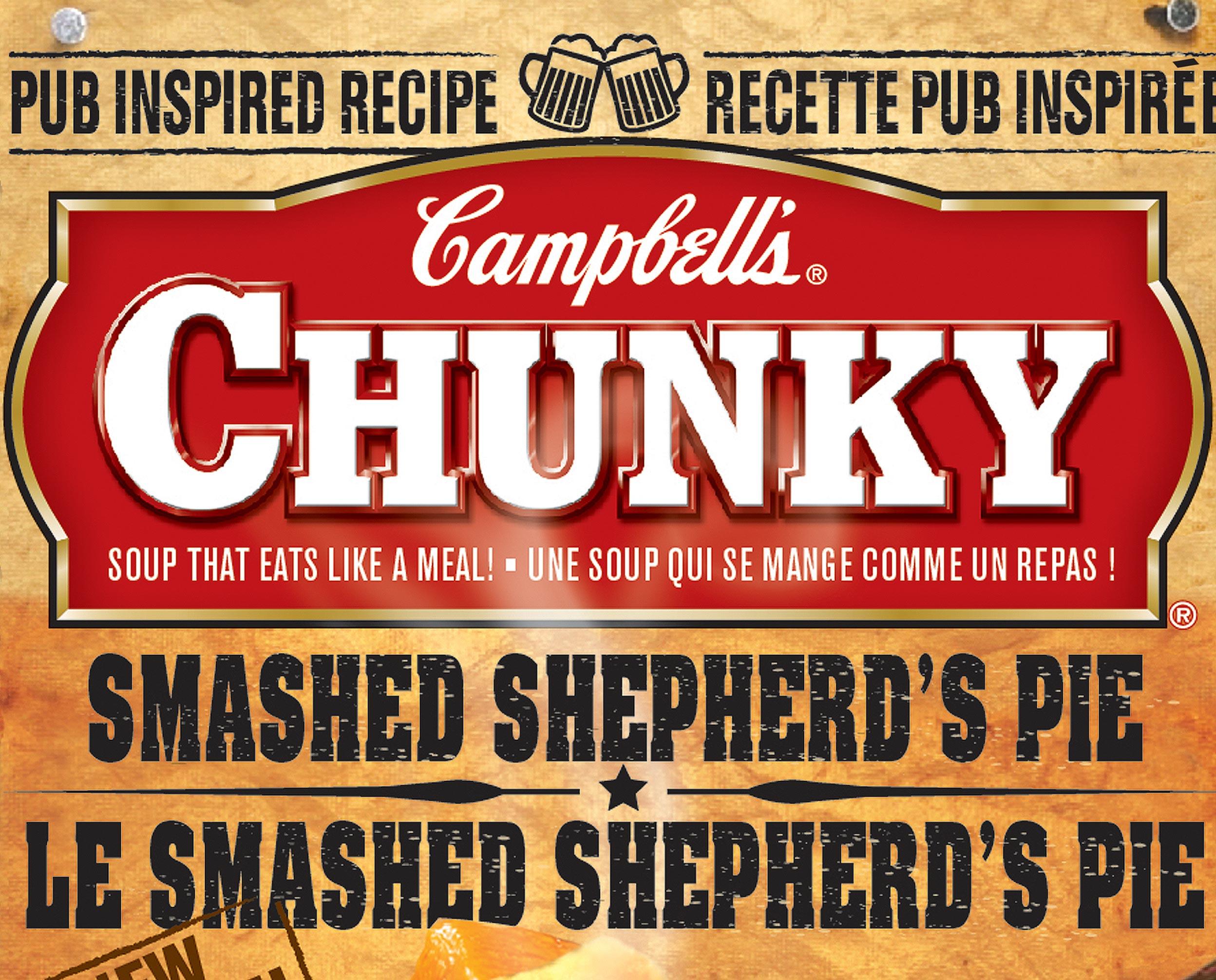 Campbell's Pub Inspired label design