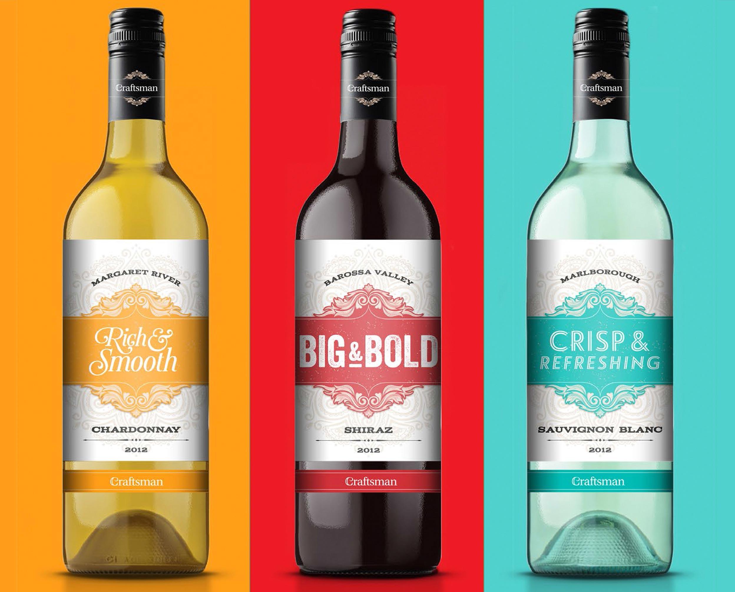 craftsman wine label design